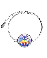 Yoga A97 Meditation Metallic Circle Bracelet thumbnail