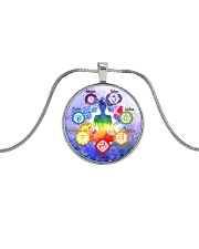 Yoga A97 Meditation Metallic Circle Necklace tile