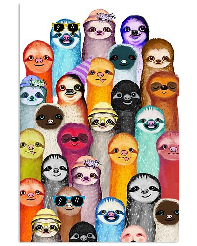 HD Sloths Poster