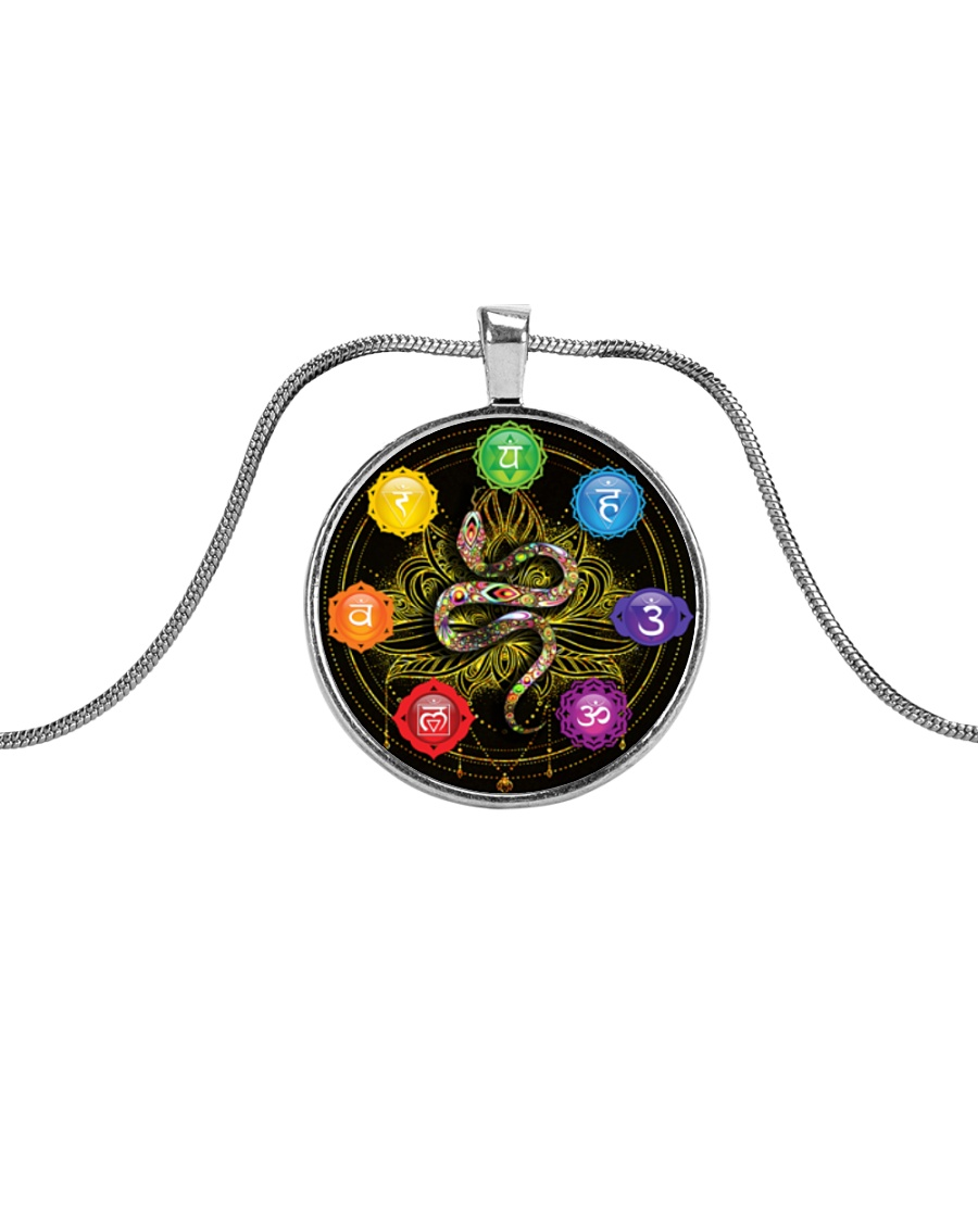 XP Snake Necklace Metallic Circle Necklace