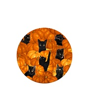 HQ Haloween Cat Circle Magnet thumbnail