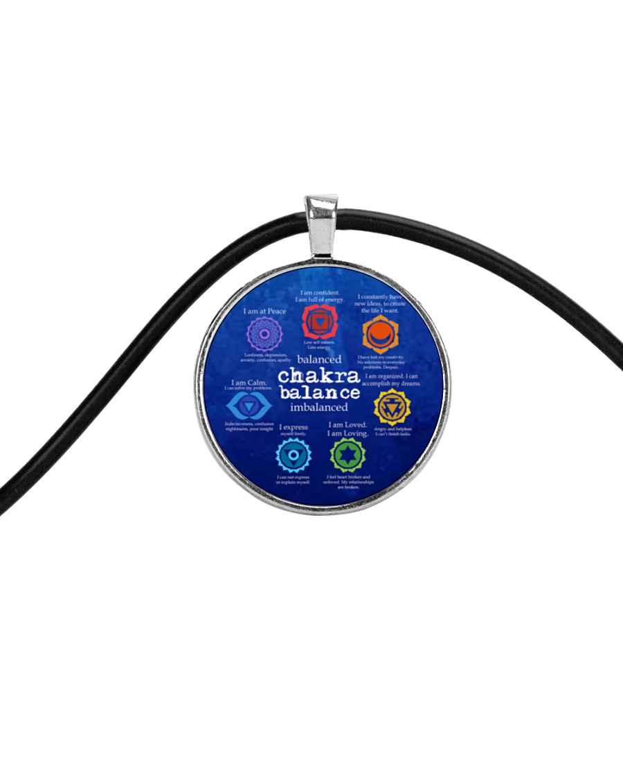 Yoga A97 Chakra Cord Circle Necklace
