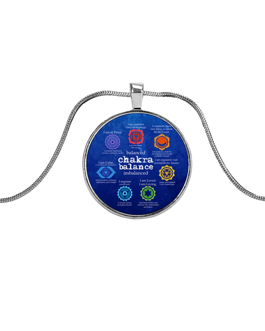 Yoga A97 Chakra Metallic Circle Necklace