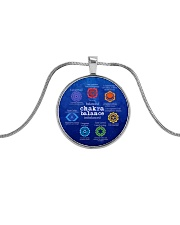 Yoga A97 Chakra Metallic Circle Necklace front