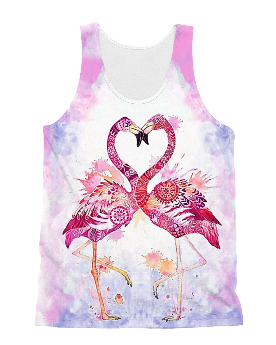 HQ Flamingo Full All-over Unisex Tank