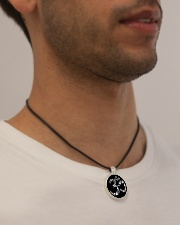 A97 Aum Symbol Cord Circle Necklace aos-necklace-circle-cord-lifestyle-2