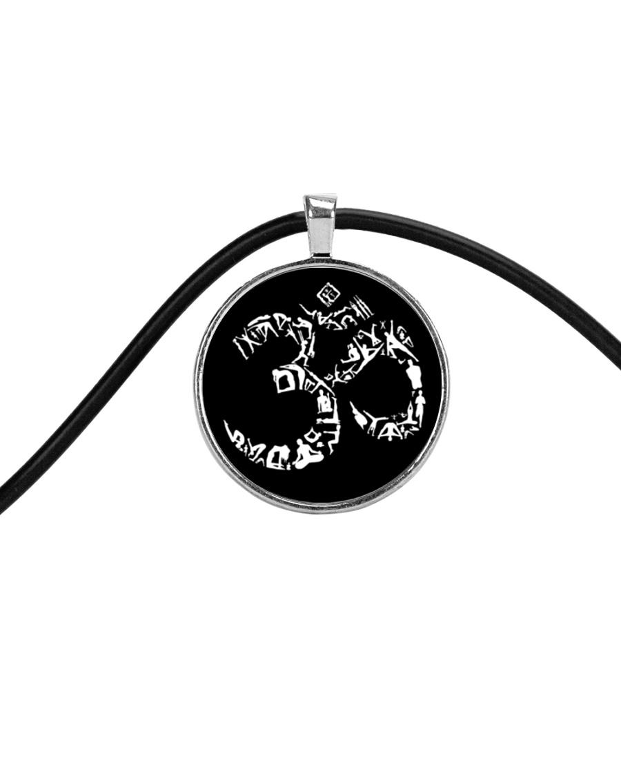 A97 Aum Symbol Cord Circle Necklace