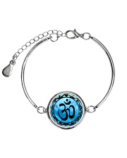 Yoga A97 Blue Om Metallic Circle Bracelet thumbnail