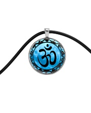 Yoga A97 Blue Om Cord Circle Necklace thumbnail