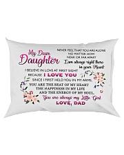 HQD Dear Daughter Pillow Rectangular Pillowcase back