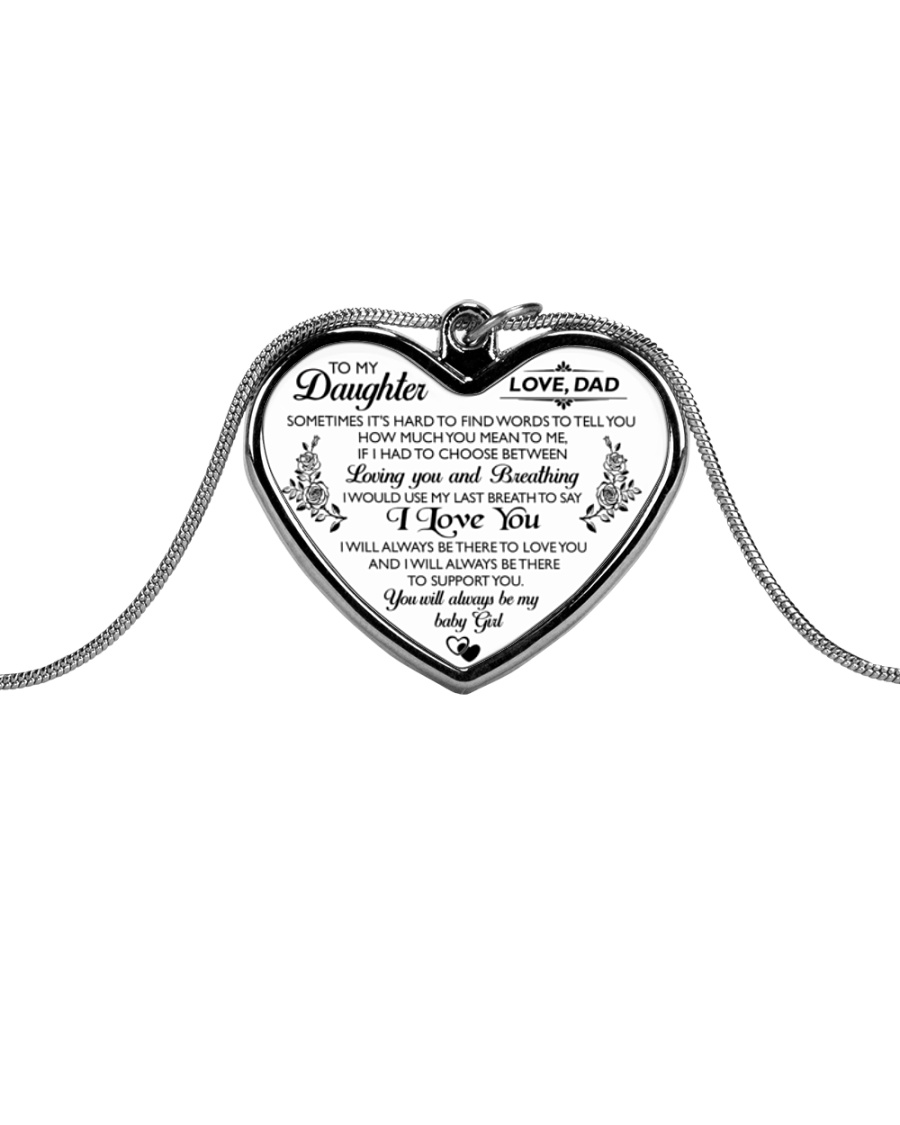 HQD Love Necklace Metallic Heart Necklace