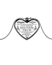 HQD Love Necklace Metallic Heart Necklace front