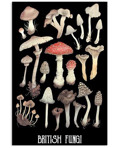 HD British Fungi Poster