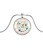 A97 Whatever You Do Metallic Circle Necklace front