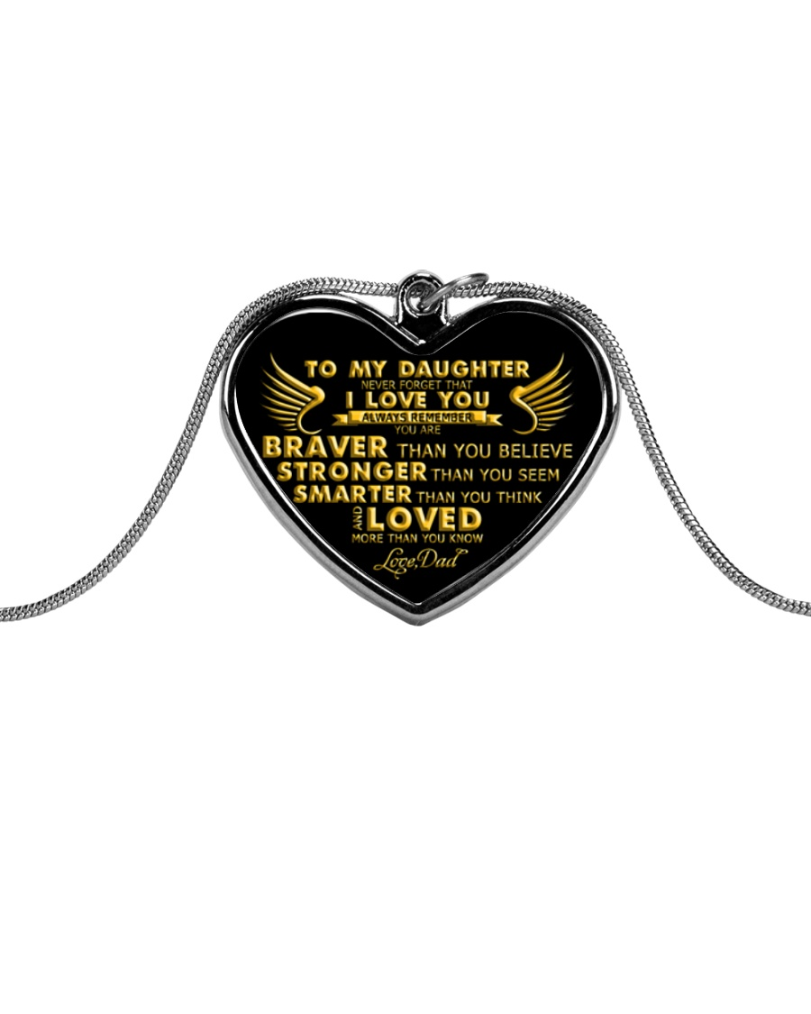 HQD Never Forget Necklace Metallic Heart Necklace