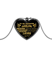 HQD Never Forget Necklace Metallic Heart Necklace front