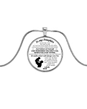HQD My Daughter Circle Metallic Circle Necklace front