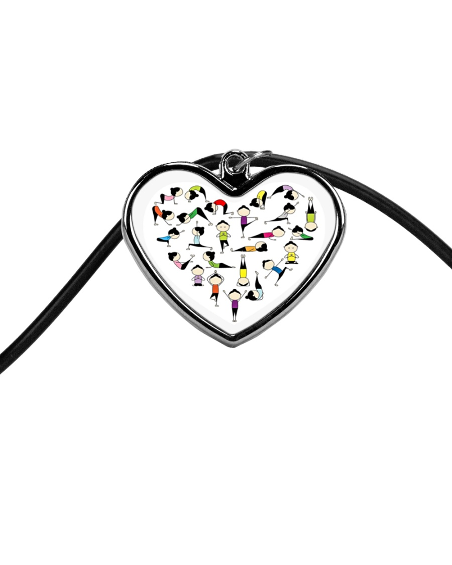 Yoga Positions Heart Cord Heart Necklace