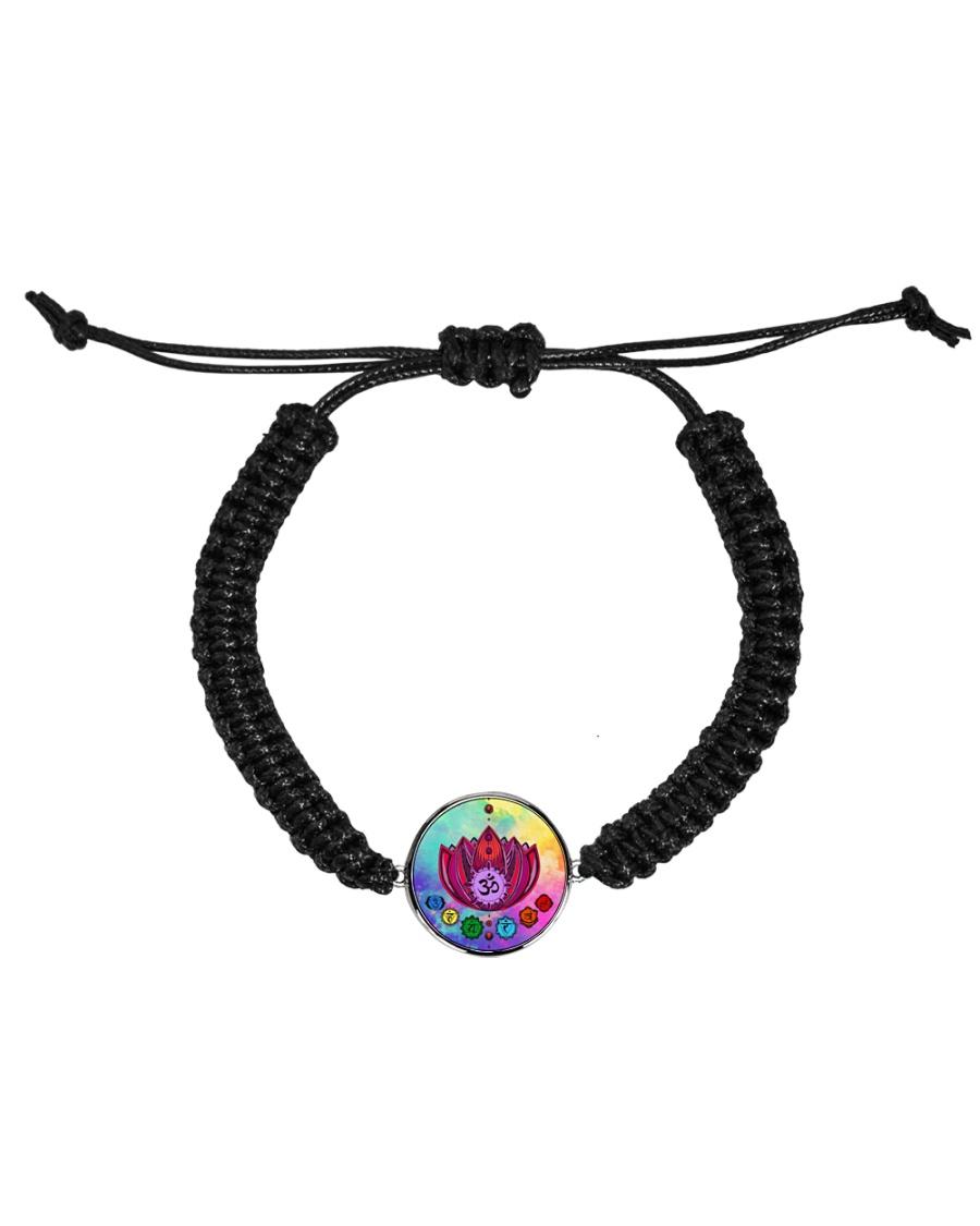 Yoga A97 Flowers Cord Circle Bracelet