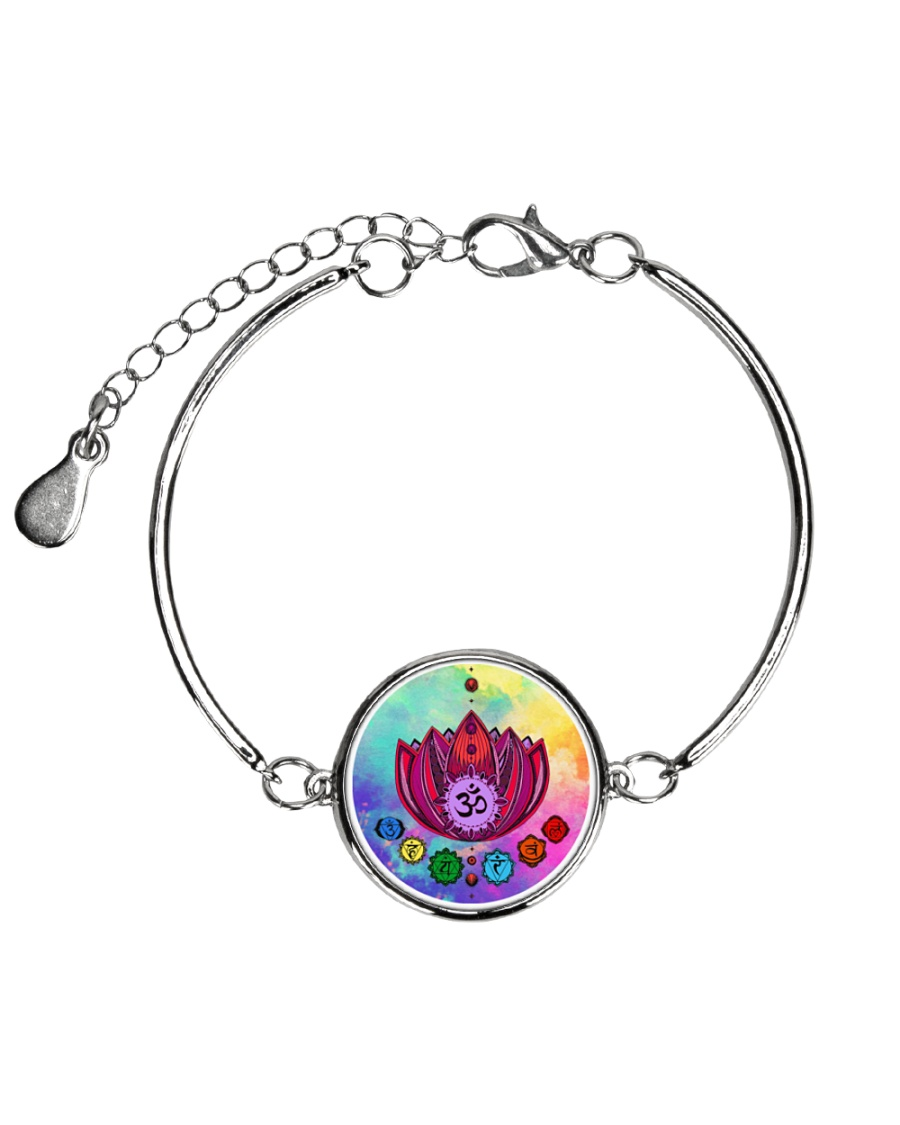 Yoga A97 Flowers Metallic Circle Bracelet