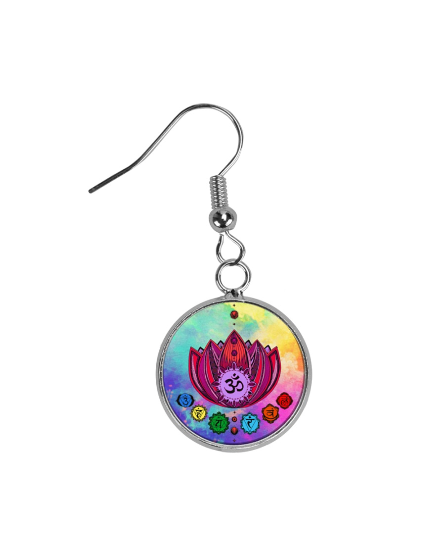 Yoga A97 Flowers Circle Earrings
