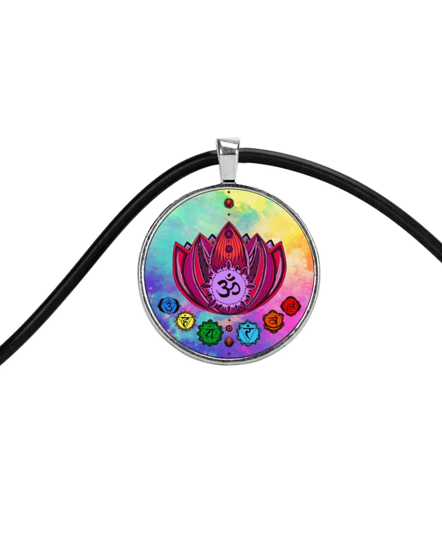 Yoga A97 Flowers Cord Circle Necklace