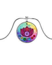 Yoga A97 Flowers Metallic Circle Necklace thumbnail