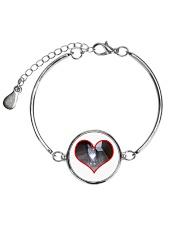 I love you Sam Metallic Circle Bracelet front