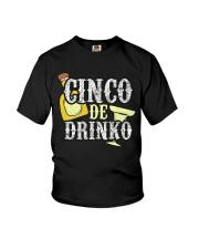 Funny Cinco de Mayo Drinko Celebration Youth T-Shirt thumbnail