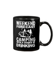 Weekend Forecast Camping With A Chance Of Drinking Mug thumbnail