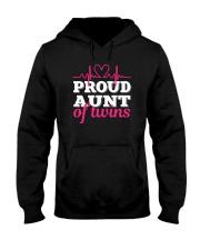 Proud Aunt of twins Hooded Sweatshirt thumbnail