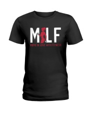 Moms in Love with Fitness Ladies T-Shirt thumbnail