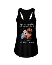 Dachshund Lover Ladies Flowy Tank thumbnail
