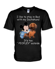 Dachshund Lover V-Neck T-Shirt tile
