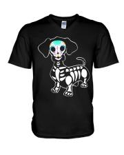 Happy Halloweiner V-Neck T-Shirt thumbnail