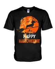 Happy Halloweenie V-Neck T-Shirt tile