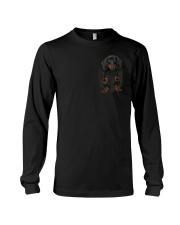 Dachshund in pocket tee shirt Long Sleeve Tee thumbnail