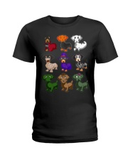Happy Hallowiener Ladies T-Shirt thumbnail