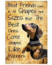Wiener Best Friends 16x24 Poster front