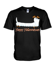 HAPPY HALLOWEINER V-Neck T-Shirt tile