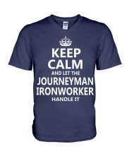 Journeyman Ironworker V-Neck T-Shirt thumbnail