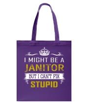 Janitor Tote Bag thumbnail