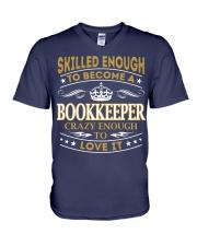 Bookkeeper V-Neck T-Shirt thumbnail