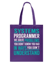 Systems Programmer Tote Bag thumbnail