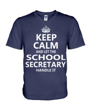 School Secretary V-Neck T-Shirt thumbnail