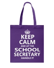 School Secretary Tote Bag thumbnail