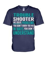 Trouble Shooter V-Neck T-Shirt thumbnail