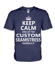 Custom Seamstress V-Neck T-Shirt thumbnail
