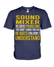 Sound Mixer V-Neck T-Shirt thumbnail