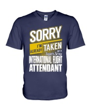 International Flight Attendant V-Neck T-Shirt thumbnail